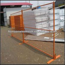 Canada Model Orange Color Powder coated Temporary Fence Panel