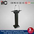 El cci t-6236b digital de madera atril podium con micrófono de cuello de cisne