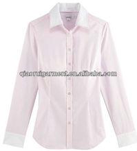2015 Slim fit Trendy design High quality long sleeve women/ladies shirt