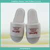 100% cotton disposable open toe hotel slippers (hot)