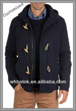 New style man winter coat brushed cotton fabric with hood
