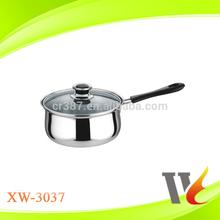 14-18cm Stainless steel single-handle milk pot | soup pot | disposable cooking pot 201