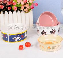 ceramic stoneware dog footprints pet bowls wholesale