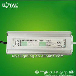 70W Waterproof IP67 power LED Driver constant current manufacturer with CE ROHS AC90-264 DC40- 60v led power