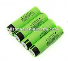 Panasonic 3400mAh NCR18650B 3.7V protected rechargeable li-ion battery