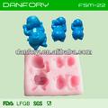 Bebé de silicona del molde para pasteles de fondant decoración/bebé de silicona para el fabricante de decoración de la torta
