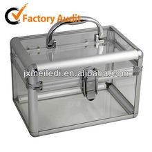 MLD-C07 Manufacturer makeup case cosmetics case with transparent material