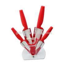 Rubber handle porcelain knife, ceramic kitchen knife set