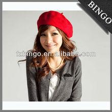 Red cap boina e chapéu/boina de lã com forma personalizada para venda