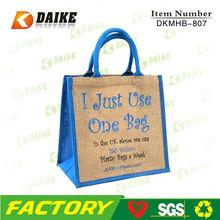 Promotional Burlap Jute Tote Bag DKNST-807