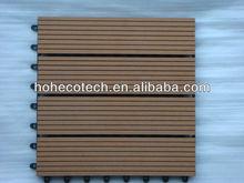 wpc Interlocking wood plastic deck tiles/interlocking removable floor tiles