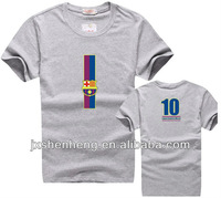 Casual cheap fashion 100% cotton Barcelona messi O-neck tee-shirts for men