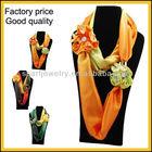 2013 lastest design christmas scarf jewelry
