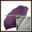 Hot selling pu & silver coated polyester taffeta fabric material