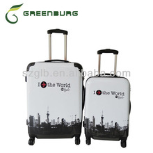 wholesale modern print abs/pc luggage;trolley bag sets