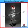 design de moda chão revista plexiglass display stand