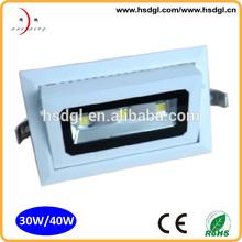 high power epstar shop light hot sale 30w led light recessed downlight adjustable