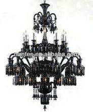 Cheap Big size balck glass chandelier/Black crystal lights / Modern black pendant lights MD2081-12-12-12+6