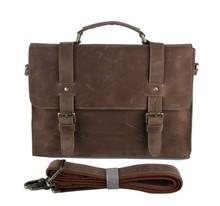 Retro Handbag Wholesale Mens Genuine Leather Messenger Bag