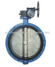 D371X Worm on the wafer type butterfly valve,keystone valve