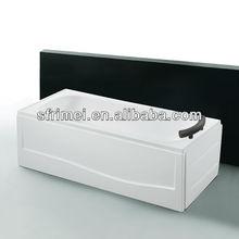 Top Sanitary Ware Acrylic Bathtub Apron Bathtub Series Freestanding Rectangle Tub 1 person Hot Tub