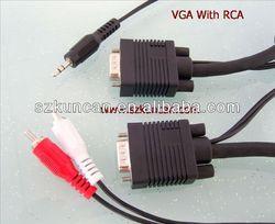 VGA+RCA to VGA+Stereo plug cable