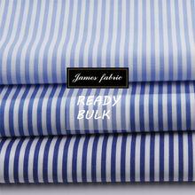 england blue stripe shirt fabric
