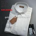 Calidad Superior de 100% ropa de hombre de camisa blanca en OEM