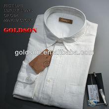 Superior quality of 100% linen mens white shirt on OEM