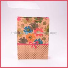2014 Wholesale Mahjong Design Kraft Paper Bag