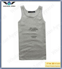 man's latest grey fitted muscle bulk tank top 2014