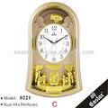 Decorativo reloj reloj de péndulo del reloj de pared( material plástico abs y 16 música señal horaria)
