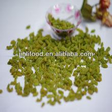 Xinjiang sun dry dark 100% green raisin grape fruit good top quality new crop green raisins sult for sale