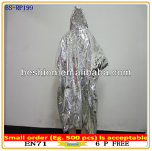 Rain poncho with full covering printing