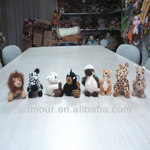 Mini Stuffed Animal Plush Toy--Lion, Zebra, Kangaroo, Giraffe, etc