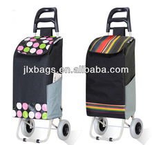 Polyester rolling up shopping trolley bag for promotion