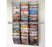 wall mount document holder,36-Pocket Magazine/Pamphlet Display
