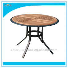 2013 new Aluminum frame fashion wooden outdoor chair and table