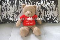 China supermarket supplier/plush toy manufacturer toy animals coral fleece talking teddy bear