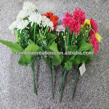 9 heads Alpine daisy artificial fabric flowers wholesale