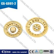 golden gas burner cap parts CA-G001