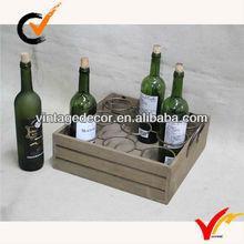 vintage wooden bottle crate