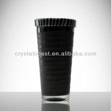 Venta al por mayor tall dark negro cuadrado cementerio jarrones ; negro cónicos de la torre eiffel centros de vidrio florero