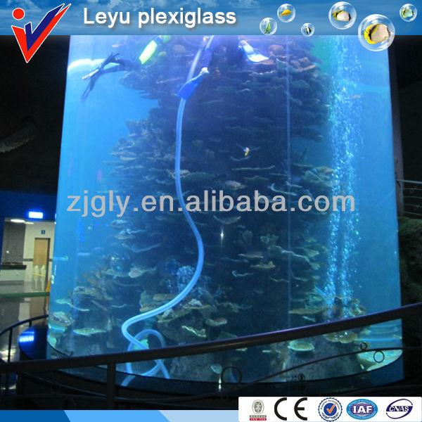 Custom Cylinder fish tank Acrylic Aquarium, View Cylinder fish tank ...