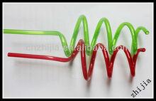Novelty crazy pvc shape straws for promotion
