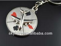 custom spinning metal keychain key chain keyring