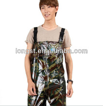 Extreme Durable PVC/Polyester/PVC Tarpaulin Camouflage Fishing Wader