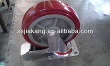 high load pu heavy duty caster, swivel wheels for trailers, press steel fork