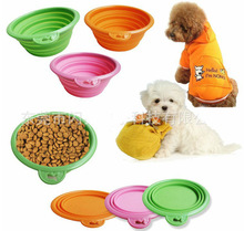 2014 Hot Sale Colorful Unbreakable Silicone Pet Bowl & Feeder for selling with factory price