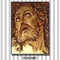 Jy-jh-ch07 ritratto di gesù sfondo religioso decorazione a colori materiali mosaico italiano disegno pittura corsa foto